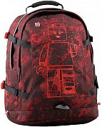 LEGO Лего Рюкзак школьный Tech Teen Schoolbag Minifigures Burgundy Camo 25 л 20041-1916