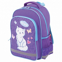 Пифагор Рюкзак школьный School White Cat 228825