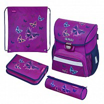 Herlitz Ранец школьный Loop Plus Glitter Butterfly с наполнением 50020485