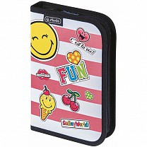 Herlitz Пенал 19 предметов Smileyworld Girly 11437910